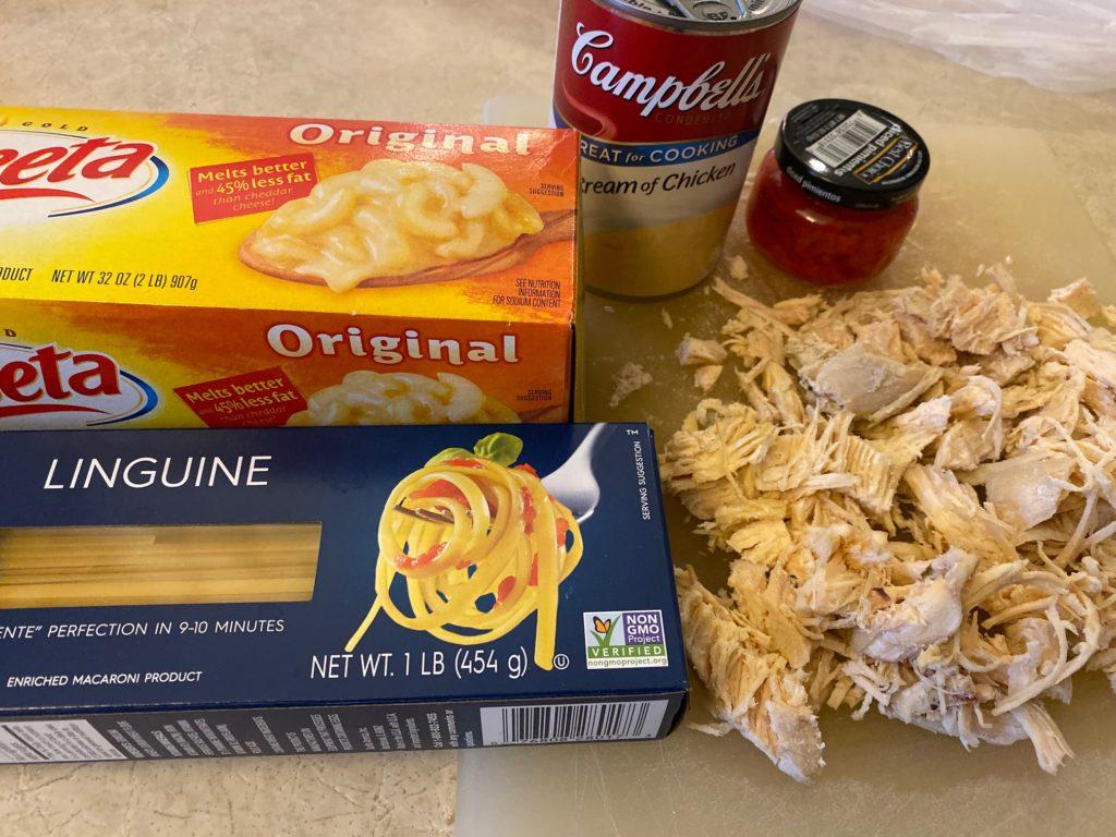 Chicken Spaghetti ingredients