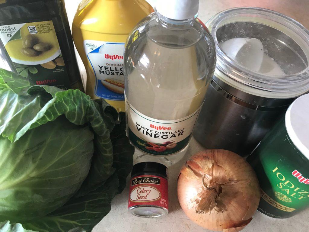 ingredients cabbage onion vinegar