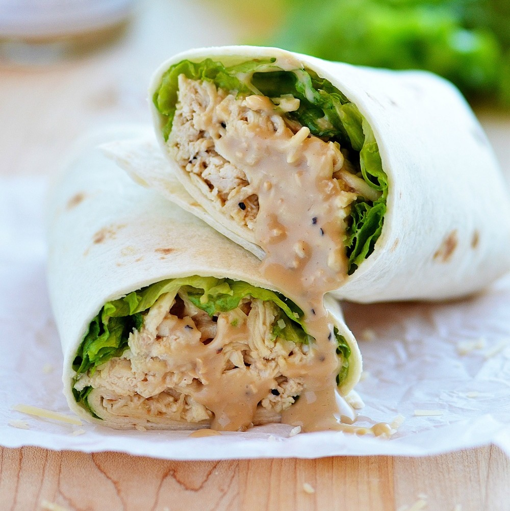 Chicken Caesar Wraps in the Crock Pot