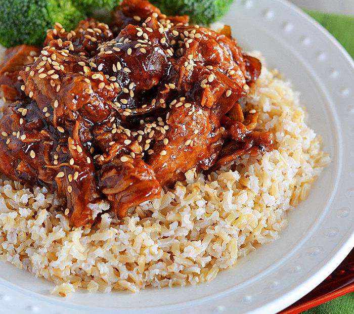 Honey Sesame Crock Pot Chicken
