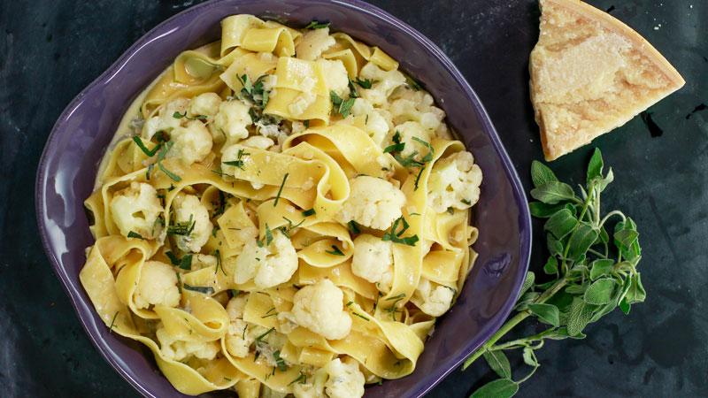 Cauliflower Pasta with Gorgonzola