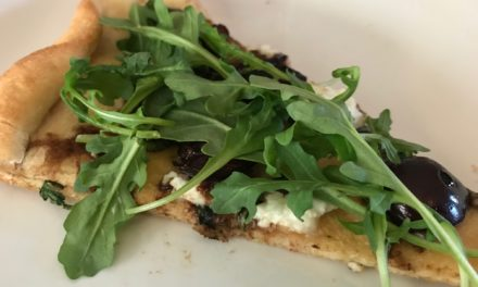 Cherry, Goat Cheese and Arugula Pizza