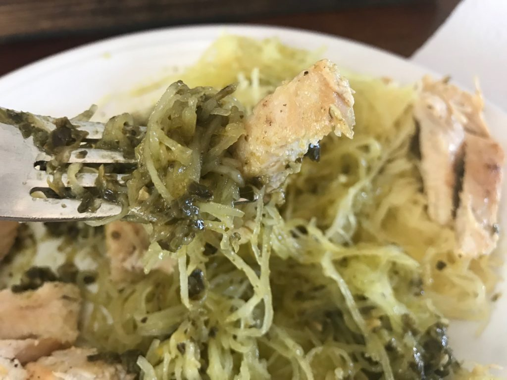 Pesto Chicken Spaghetti Squash Pasta