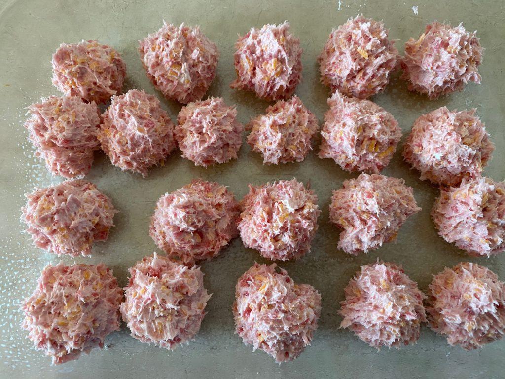 Cream Cheese Sausage Balls precooked