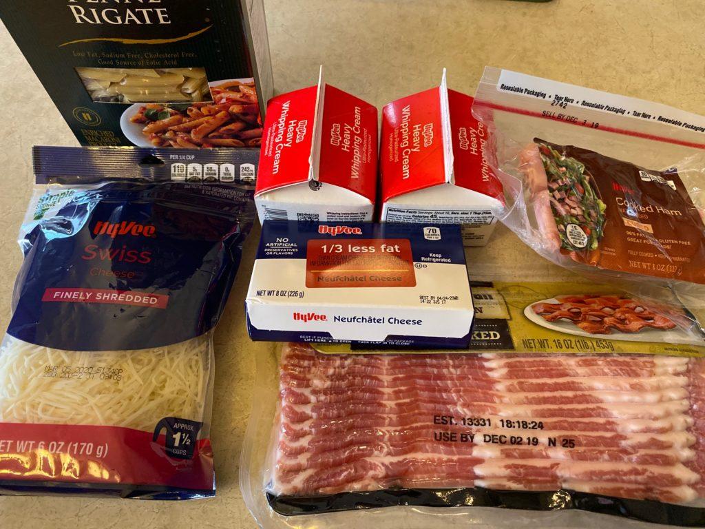 Chicken Cordon Bleu Pasta ingredients