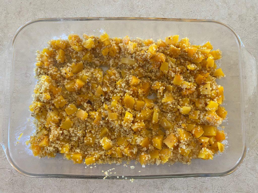 Butternut Squash Quinoa Casserole pre-cooked