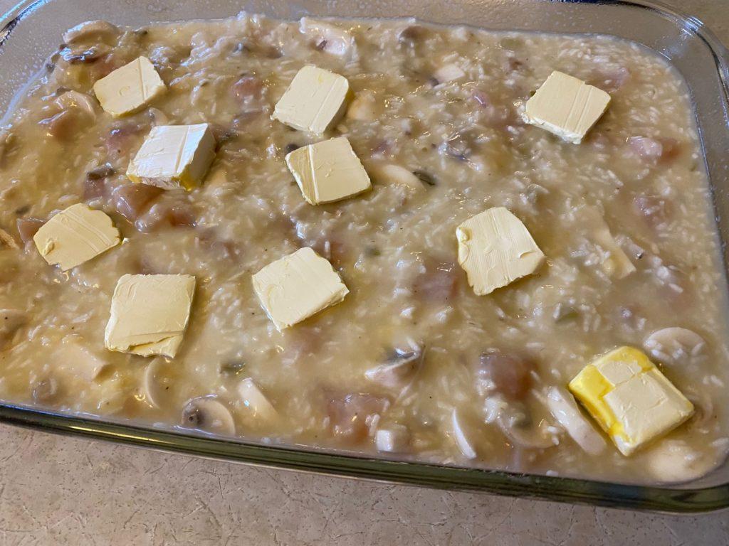 butter on casserole