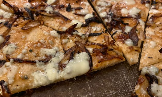 Fig, Caramelized Onions and Blue Cheese Pizza