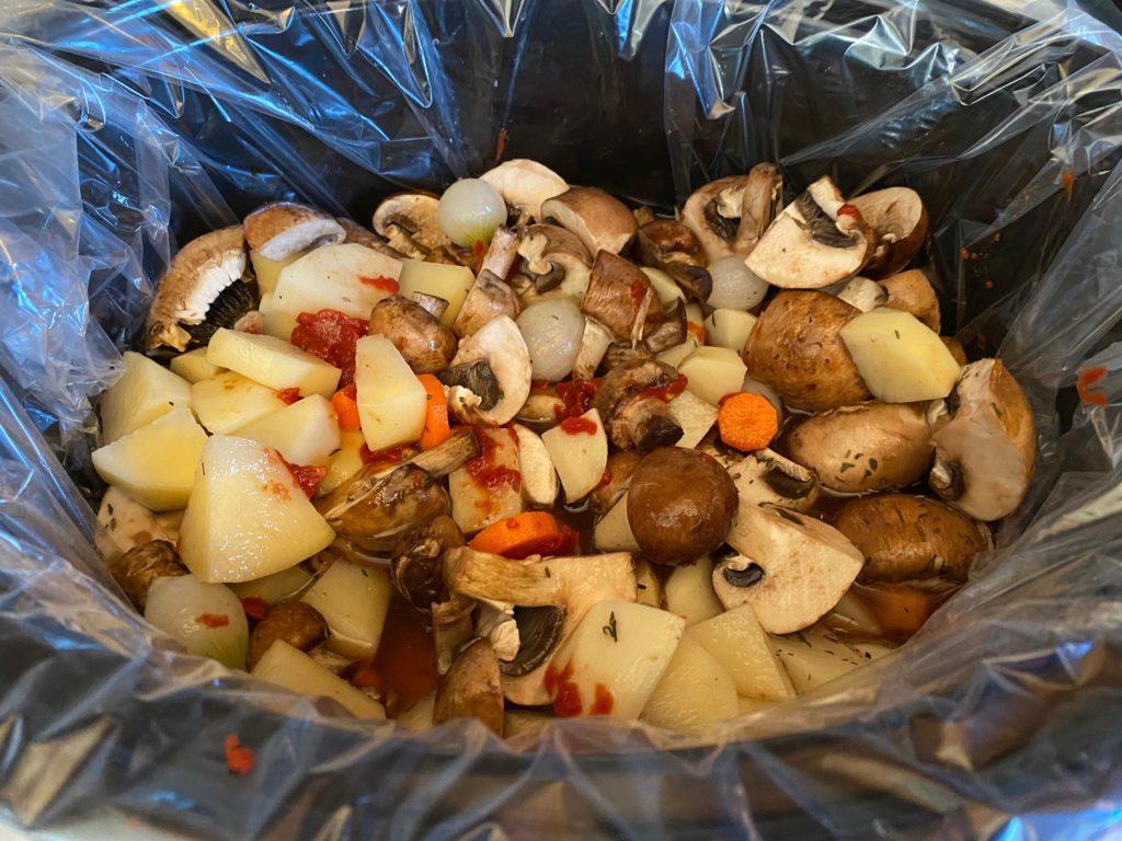 uncooked in crock pot