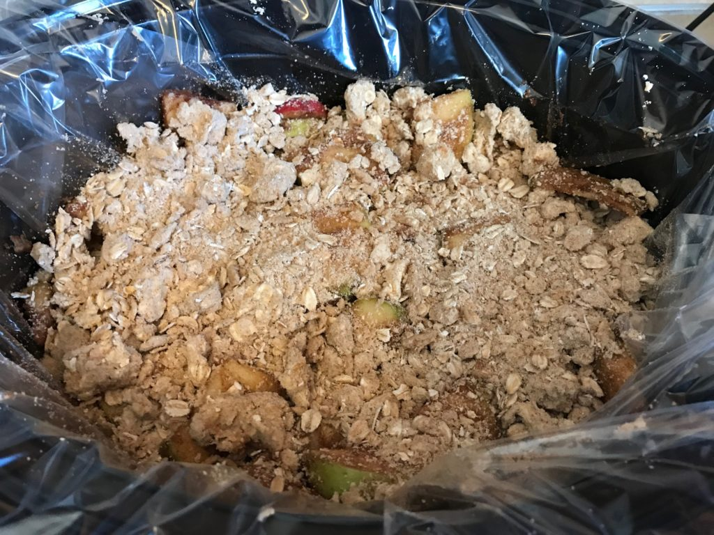 slow cooker apple crisp precooked