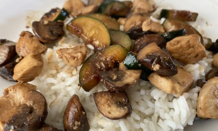 Zucchini Mushroom Chicken Stir Fry