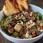 Balsamic Steak Salad with Blue Cheese & Grilled Corn