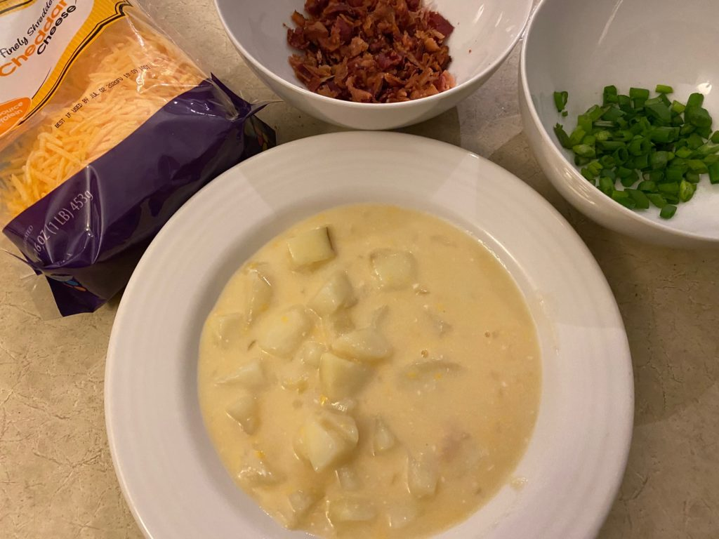 Potato Soup with toppings