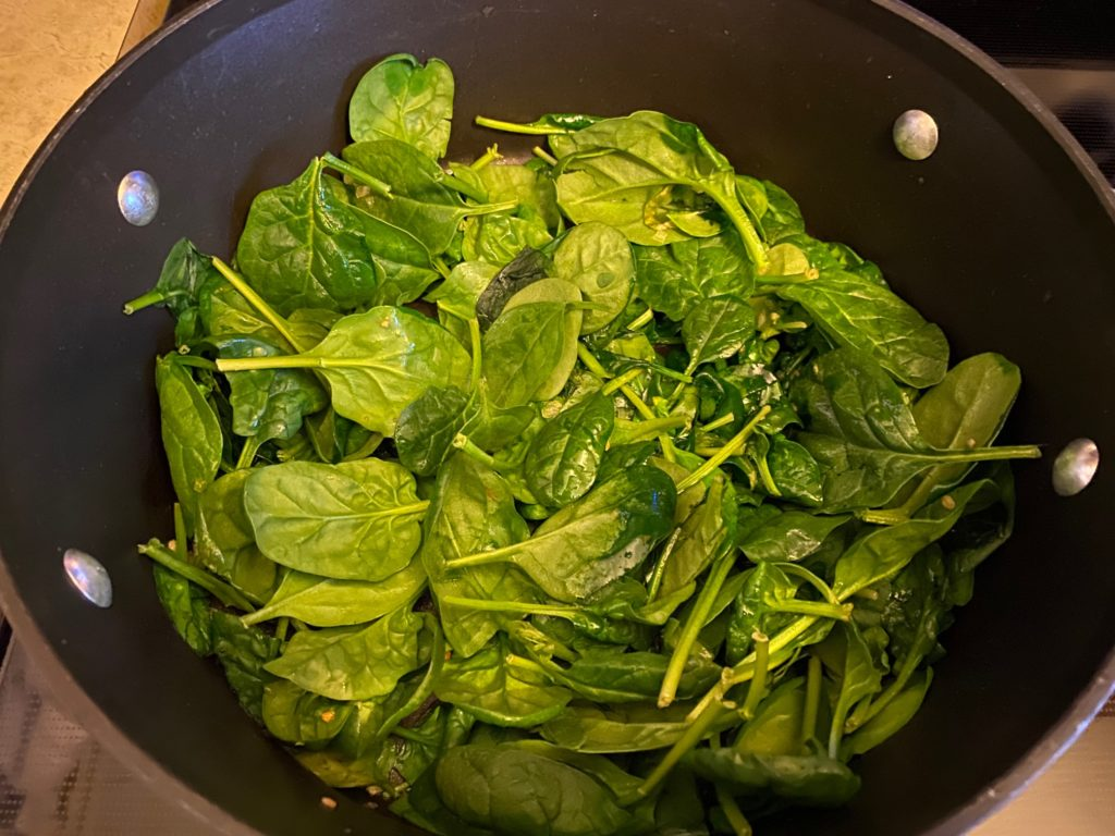 saute spinach