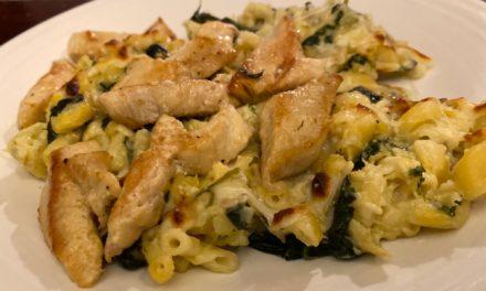 Spinach Artichoke Mac and Cheese