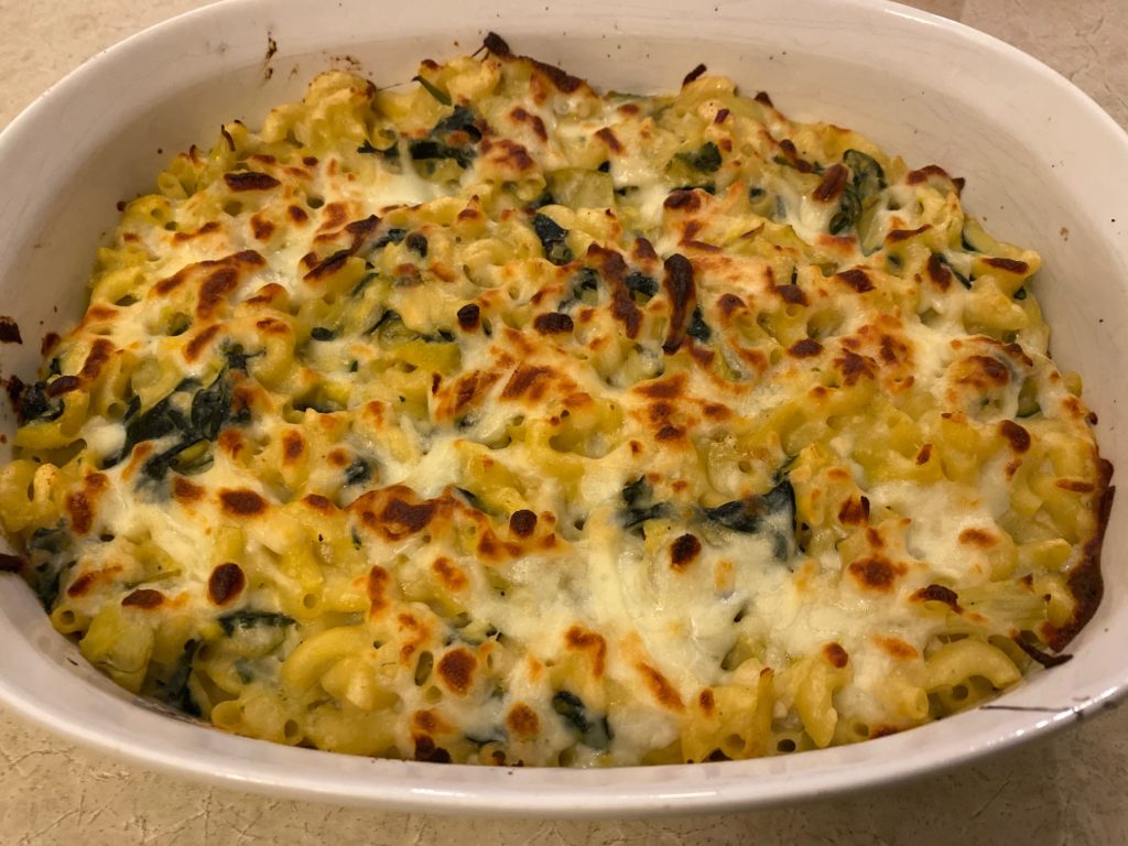 cooked Spinach Artichoke Mac and Cheese