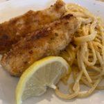 Parmesan Chicken with Lemon Garlic Pasta
