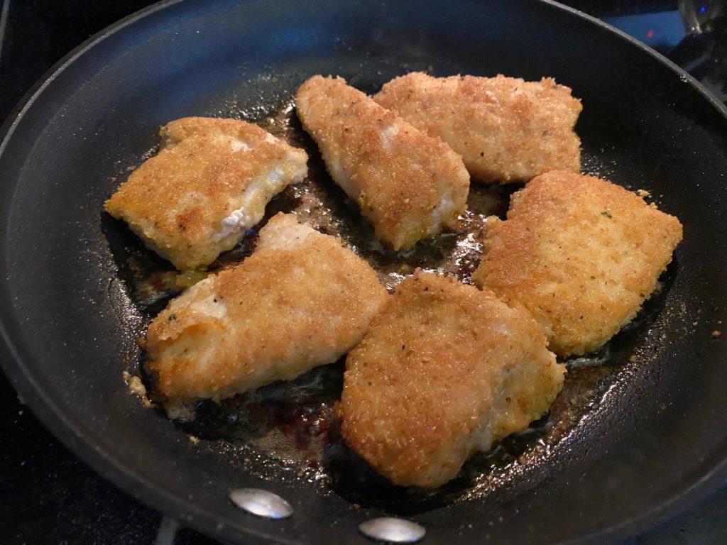Parmesan Chicken cooking