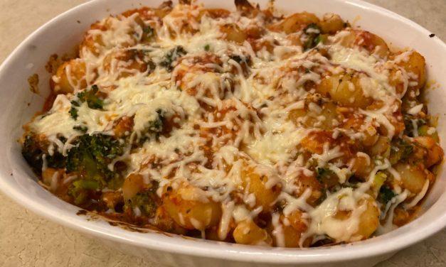 Gnocchi, Broccoli and White Bean Casserole