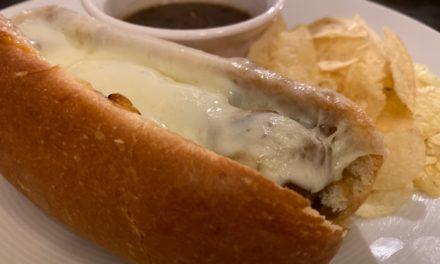 French Onion Meatball Sub Sandwich