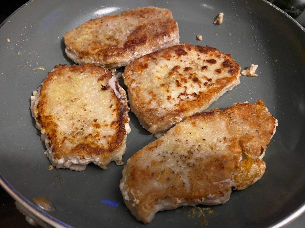 cooking pork chops