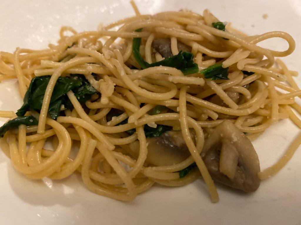 Parmesan Spinach Mushroom Pasta
